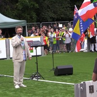 'I know that this works': Michael Sheen opens Homeless World Cup in Cardiff