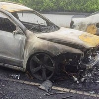 Narrow escape for family as cars destroyed in arson attack