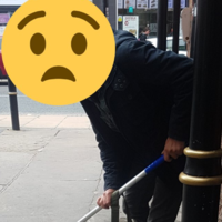 Man caught urinating outside train station given mop and forced to clean up