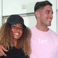 Love Island winners Amber and Greg touch down in the UK with co-stars