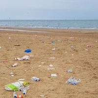 Beaches strewn with litter following July heatwave