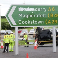 'Londonderry' signs defaced days before new A6 opens
