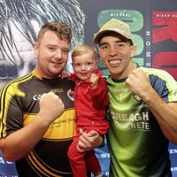 West Belfast toddler Dáithí Mac Gabhann rubs shoulders with boxing hero Michael Conlan