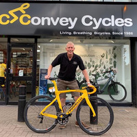 Tour de France winner Egan Bernal's bicycle goes on display in Belfast