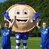 Wigan Athletic unveil new mascot Crusty the Pie