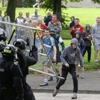 Outrage after New Lodge bonfire protests turn violent