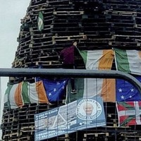 "Arlene Foster says ""wise up"" after Martin McGuinness image placed on loyalist bonfire"