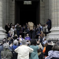 Mourners pay tribute to French filmmaker Jean-Pierre Mocky