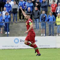 Cliftonville pay emotional tribute to the late Tommy Breslin as they ease to Glenavon win