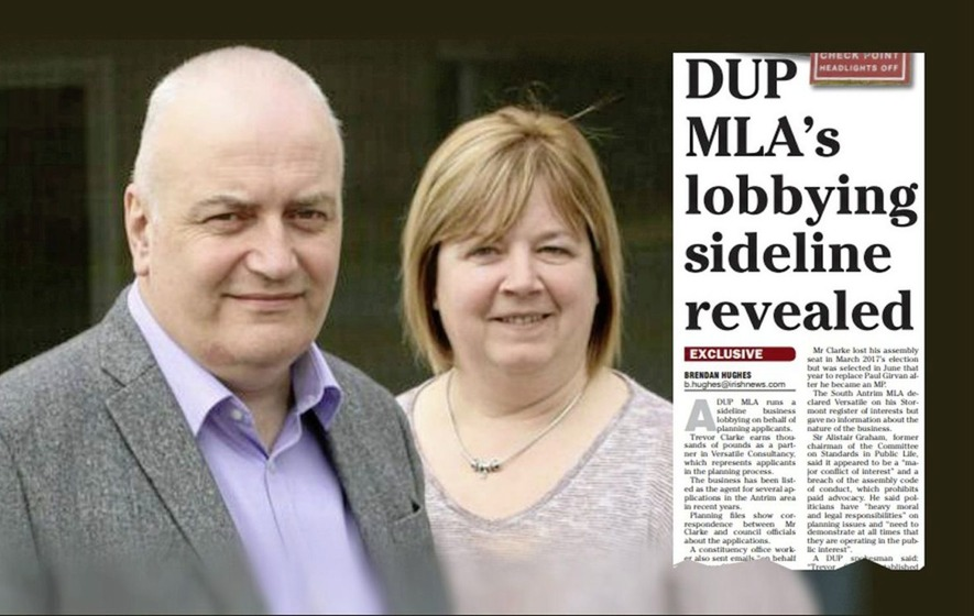 DUP councillor fails to declare involvement in MLA husband's planning business