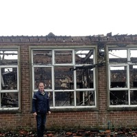 Former south Armagh school building 'gutted' in fire