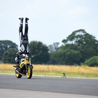British rider 'breaks world record for fastest headstand on a motorbike'