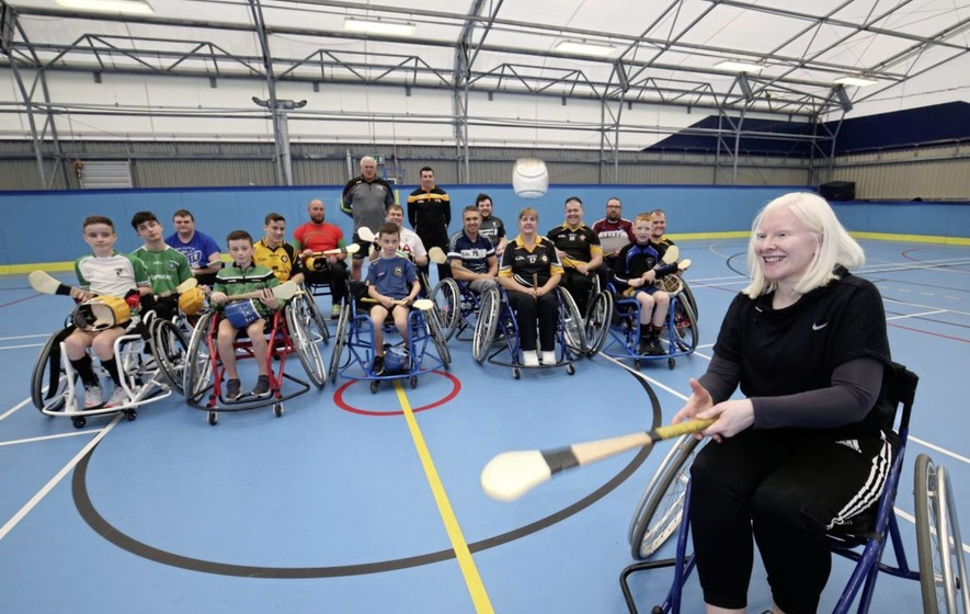 Paralympian Kelly Gallagher supports wheelchair hurling