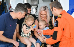 Baby born on rescue helicopter celebrates first birthday with crew