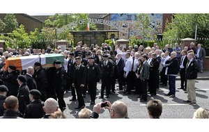 Funeral takes place in Belfast of Alec Murphy