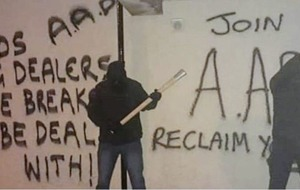 AAD claims attack on north Belfast house after 'control your youth' threat