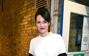 Phoebe Waller-Bridge greets fans following Fleabag stage performance