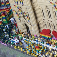 Legoland model builder recreates Manchester Pride event out of colourful blocks