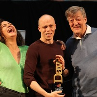 Stephen Fry presents Edinburgh Comedy Award prize to Jordan Brookes