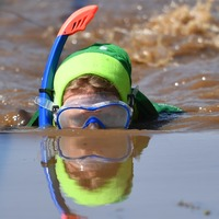 In Pictures: Bog snorkellers compete in championship in Wales
