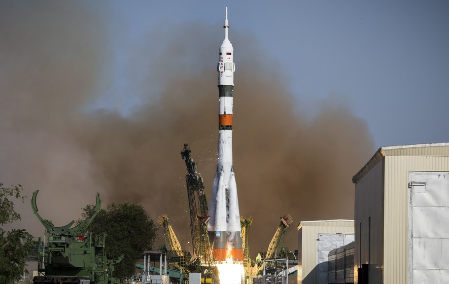International Space Station crew relocates Soyuz capsule