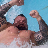 Strongman opens new waterpark slides said to be 'tallest and fastest' in UK