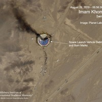 Satellite photos show burning Iran space centre launch pad