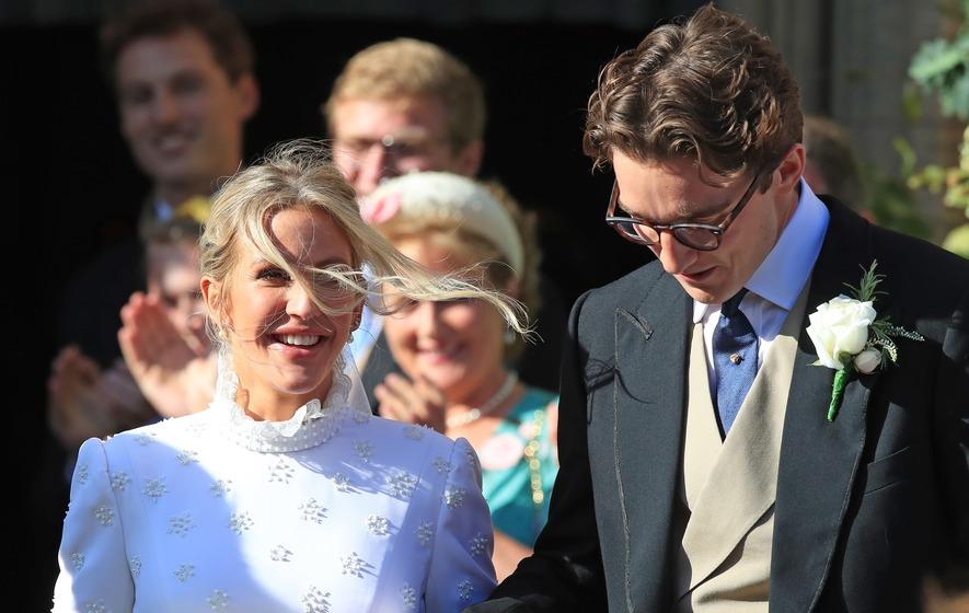 Ellie Goulding Debuts Traditional Dress As She Arrives For