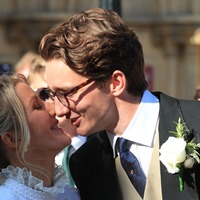Ellie Goulding shares kiss with husband Caspar Jopling on steps of York Minster