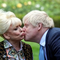 Dame Barbara Windsor asks Boris Johnson: Can I have a kiss?