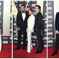 David Beckham, Kylie Minogue and Nicole Kidman among stars at GQ awards