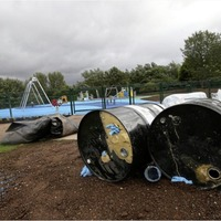 Plastic and barrels of glue stolen from playground renovation site in west Belfast