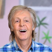 Sir Paul McCartney meets school pupils while promoting his new children's book