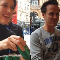 Phoebe Waller-Bridge and Andrew Scott surprise queuing Fleabag fans with G&Ts