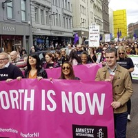 Thousands march over changes to abortion law
