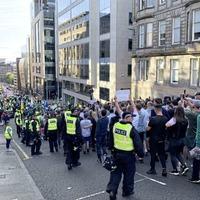 Sectarian rioting flares again at Glasgow republican parades