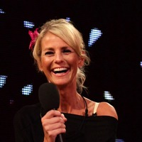 Ulrika Jonsson checking into Celebrity First Dates Hotel