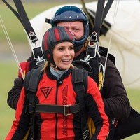 Amanda Holden shares reaction after completing 10,000ft charity skydive