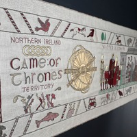 Game Of Thrones tapestry transported to home of its inspiration in Bayeux