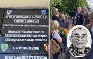 Sinn Féin £1.5m donor William Hampton's ashes buried in west Belfast