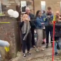 Nicola Sturgeon whacked on head by tennis ball in swingball game