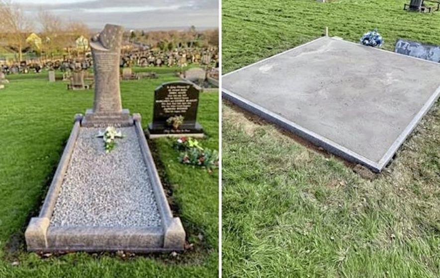 Grave of murdered IRA prisoner Kevin McGuigan sealed in concrete at Belfast City Cemetery