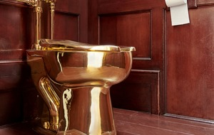 Artist who created £4.8m gold toilet 'praying' Blenheim Palace theft was prank