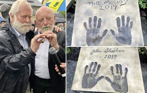 Musicians John Sheahan and Matt Molloy honoured in Co Mayo