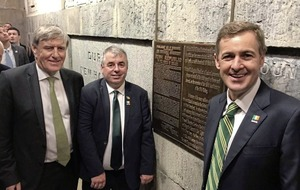 1916 Rising plaque unveiled at Washington Monument