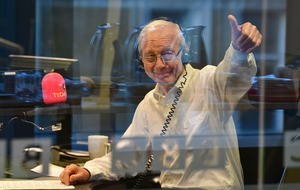Dame Edna Everage helps John Humphrys mark final Today broadcast