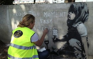 Banksy's climate protest mural preserved by London council
