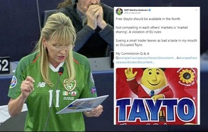 Sinn Féin's Martina Anderson rounds on 'Occupied Tayto' over crisps legal row