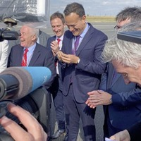 Priest presents Leo Varadkar with holy water to help with Brexit discussions with Boris Johnson