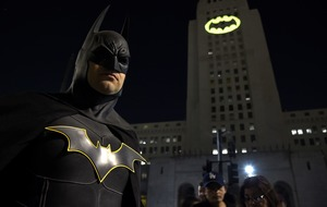 Holy anniversary, Batman! Bat-signals mark Caped Crusader's 80th birthday